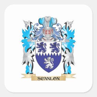 Scanlon Coat of Arms - Family Crest Square Sticker