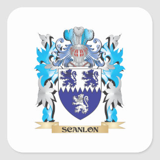 Scanlon Coat of Arms - Family Crest Square Sticker