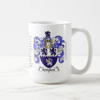 Scanlon, the Origin, the Meaning and the Crest Classic White Coffee Mug