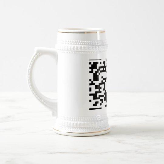 Scannable QR Bar code Beer Stein