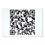 Scannable QR Bar code Custom Invitation