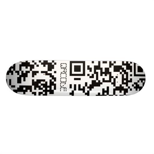Scannable QR Bar code Custom Skateboard