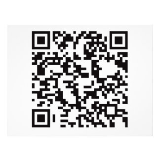 Scannable QR Bar code Flyer