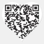 Scannable QR Bar code Heart Sticker