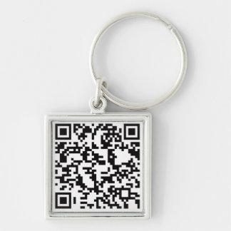 Scannable QR Bar code Keychain