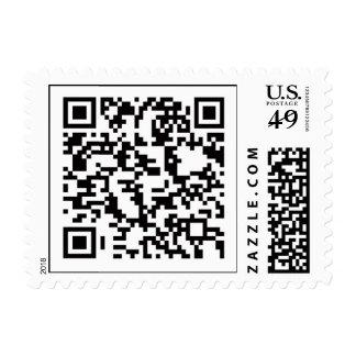 Scannable QR Bar code Postage