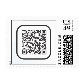 Scannable QR Bar code Stamp