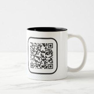 Scannable QR Bar code Two-Tone Coffee Mug