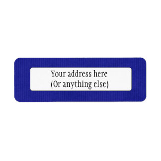 Scanned Detailed Kraft Paper Texture Blue Custom Return Address Labels