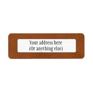 Scanned Detailed Kraft Paper Texture Burnt Sienna Custom Return Address Labels