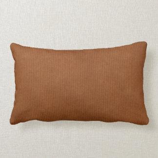 Scanned Detailed Kraft Paper Texture Burnt Sienna Lumbar Pillow