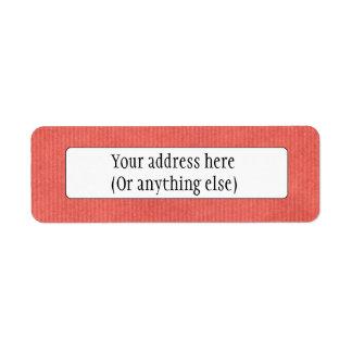 Scanned Detailed Kraft Paper Texture Coral Red Custom Return Address Label