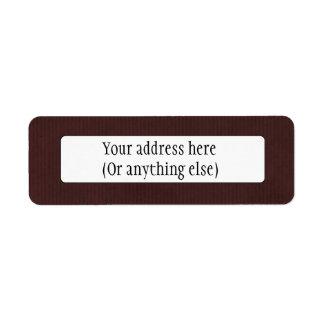 Scanned Detailed Kraft Paper Texture Dark Brown Custom Return Address Labels