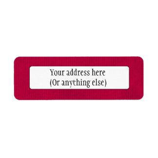 Scanned Detailed Kraft Paper Texture Deep Magenta Return Address Label