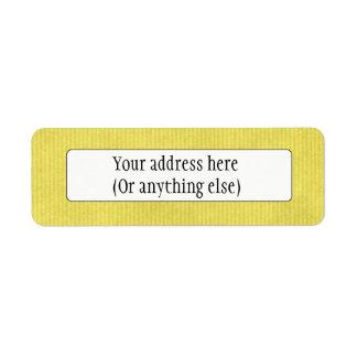 Scanned Detailed Kraft Paper Texture Lemon Yellow Return Address Labels