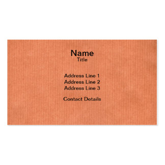 Scanned Detailed Kraft Paper Texture Peach Pink Double-Sided Standard Business Cards (Pack Of 100)