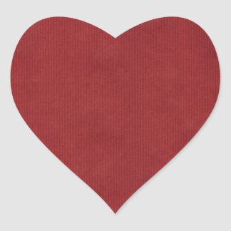 Scanned Detailed Kraft Paper Texture Red Heart Sticker