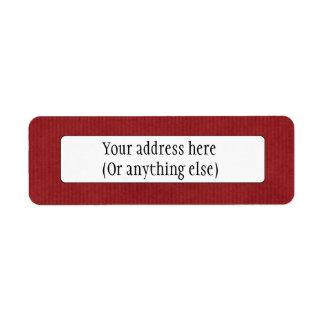 Scanned Detailed Kraft Paper Texture Red Return Address Label