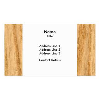 Scanned Detailed Red Oak Veneer Woodgrain Business Card