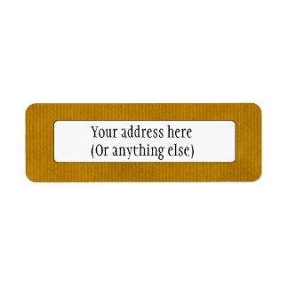 Scanned Kraft Paper Texture Strong Mustard Return Address Label