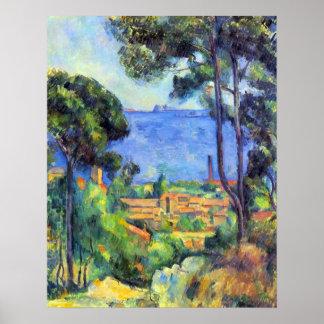 Scape de la tierra de Paul Cezanne Impresiones