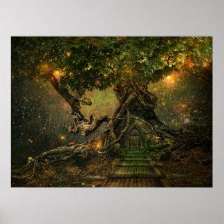 scape del árbol póster