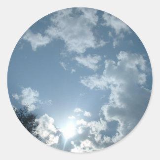 Scape del cielo etiqueta redonda