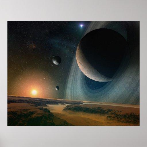 Scape del planeta - impresión del arte del espacio impresiones
