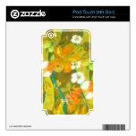 Scape verde (camisa de hawaiana del vintage) skins para iPod touch 4G