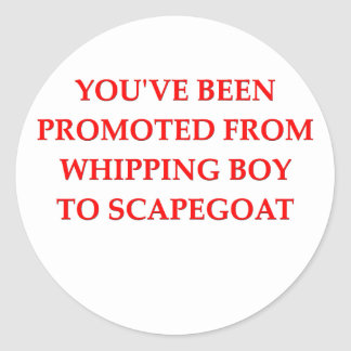scapegoat classic round sticker