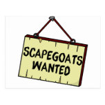 Scapegoats Wanted Postcard