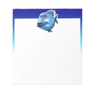 scar face ugly fish funny cartoon notepad
