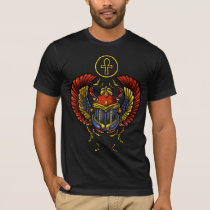 Scarab Ankh Egyptian Eye Of Horus Ancient Symbol T-Shirt