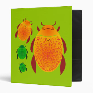 Scarab Beetle 3 Ring Binder