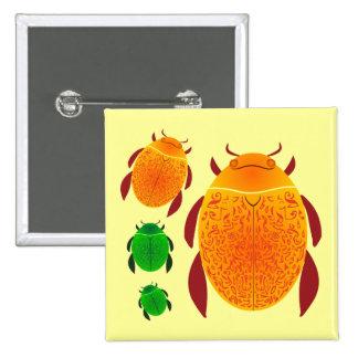 Scarab Beetle Button
