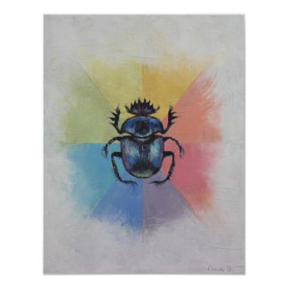 Scarab Beetle Card