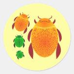 Scarab Beetle Classic Round Sticker