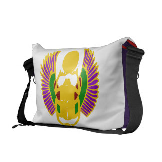 scarab beetle Egyptian yoga bag-gold white purple Courier Bags