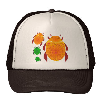 Scarab Beetle Mesh Hats