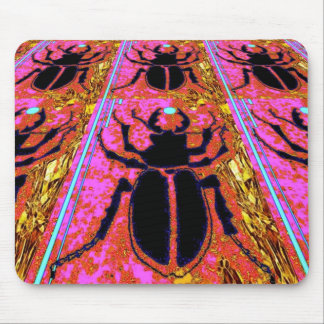 Scarab Beetle pink -Gold gifts by Sharles Mouse Pad