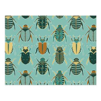 Scarab Beetles Postcard