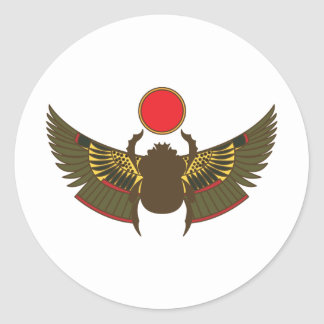 scarab classic round sticker