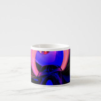 Scarab Flower Abstract Espresso Cup