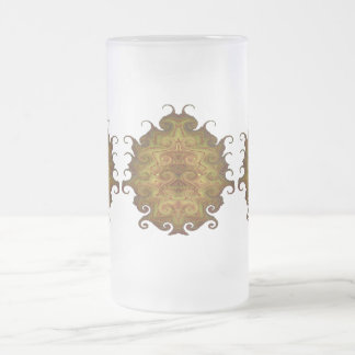 SCARAB FROSTED GLASS MUG