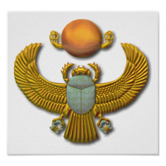 Scarab-gold Poster