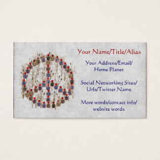 Scarab Peace Sign Business Card