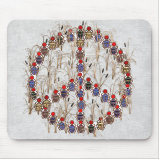 Scarab Peace Sign Mouse Pad