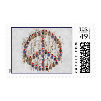 Scarab Peace Sign Postage