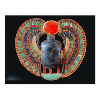 Scarab pectoral, from the tomb of Tutankhamun Postcard