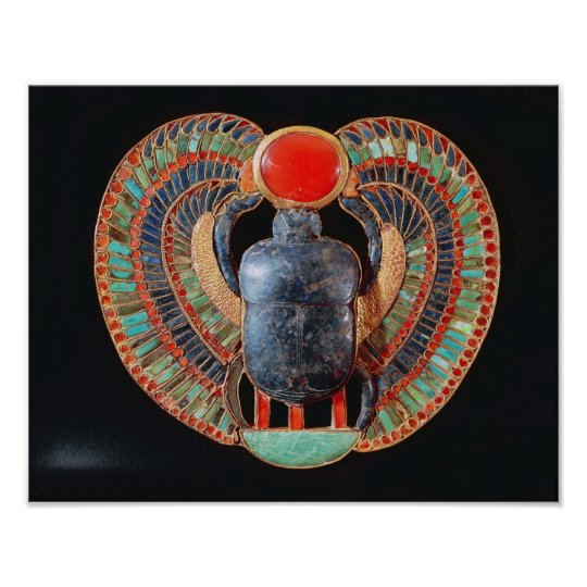 Scarab pectoral, from the tomb of Tutankhamun Poster